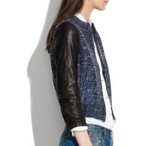 Madewell | S Shimmer weave Bomber Leather Jacket
